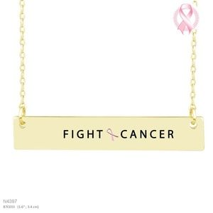 FIGHT CANCER MESSAGE NECKLACE